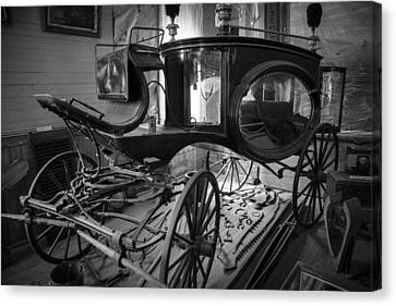 Canvas Print featuring the photograph Bodie Hearse by Jim Snyder