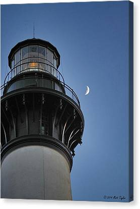 Bodie Island Lighthouse And Luna Canvas Print by Matt Taylor