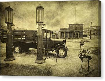 Canvas Print featuring the photograph Bodie Memories by Priscilla Burgers
