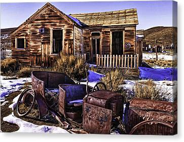 Canvas Print featuring the painting Bodie by Muhie Kanawati