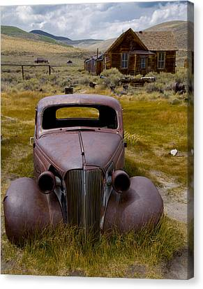 Canvas Print featuring the photograph Bodie Rest Stop by Jim Snyder