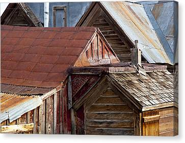 Canvas Print featuring the photograph Bodie Rooflines by Jim Snyder