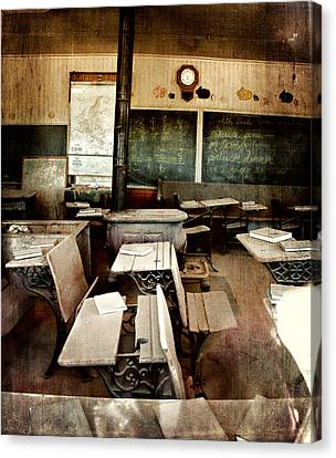 Canvas Print featuring the photograph Bodie School Room by Lana Trussell