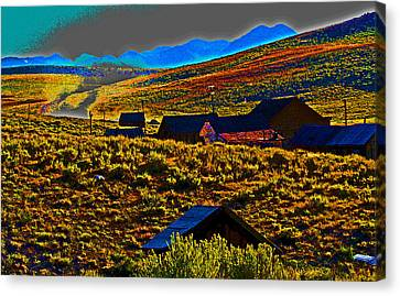 Bodie Sunset Canvas Print by Joseph Coulombe