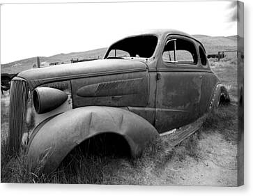 Canvas Print featuring the photograph Bodie Yard Art by Jim Snyder