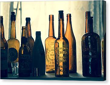 Canvas Print featuring the photograph Bodies Bottles by Jim Snyder