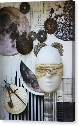 Canvas Print featuring the sculpture Bodies Of Attraction C2011 by Paul Ashby