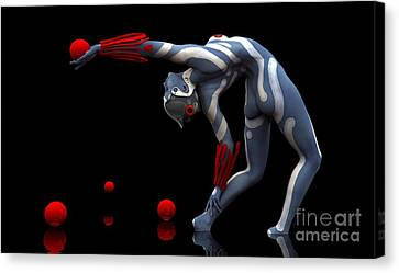 Canvas Print featuring the digital art Body In Motion by Sandra Bauser Digital Art