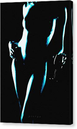 Body Waves 4 Canvas Print by Piety Dsilva