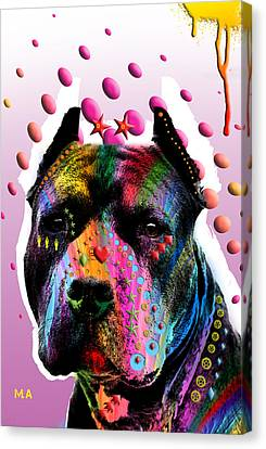Pittie Canvas Print - Bodyguard by Mark Ashkenazi