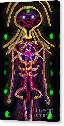 Bodywire Canvas Print by Devin  Cogger