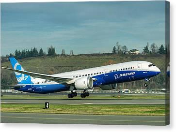 Boeing 787-9 Gets Airborne Canvas Print