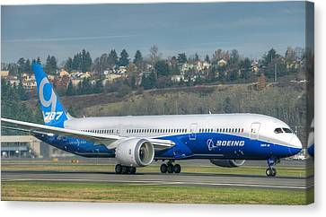 Boeing 787-9 Takeoff Canvas Print by Jeff Cook
