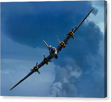 B17 Canvas Print - Boeing B-17 Flying Fortress by Adam Romanowicz