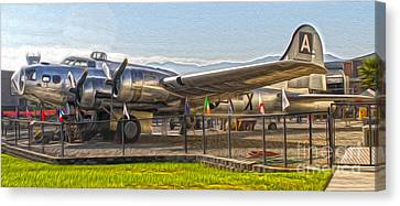 Boeing Flying Fortress B-17g  -  05 Canvas Print by Gregory Dyer