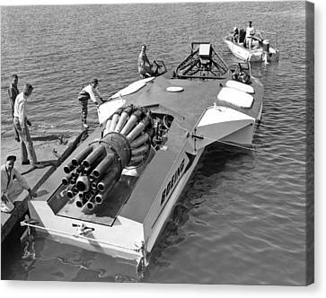 Boeing Jet Powered Speed Boat Canvas Print by Underwood Archives