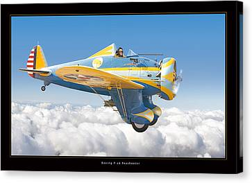 Boeing P-26 Peashooter Canvas Print by Larry McManus