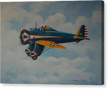 Aviationart Canvas Print - Boeing P26 by Murray McLeod