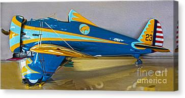 Boeing Peashooter P-26a  -  01 Canvas Print by Gregory Dyer