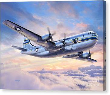 Boeing Yc-97a Stratofreighter Canvas Print by Stu Shepherd