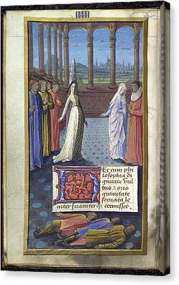 Boethius The Consolation Of Philisophy Canvas Print by British Library
