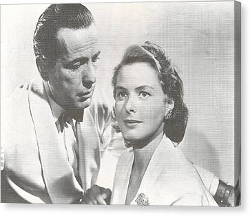 Bogart And Bergman Canvas Print by Georgia Fowler