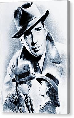 Bogart Silver Screen Canvas Print