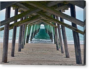 Bogue Banks Fishing Pier Canvas Print by Sandi OReilly