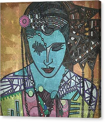 Bohee Woman Canvas Print by Amy Sorrell