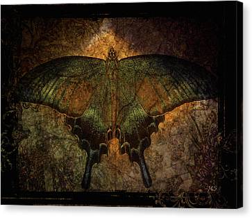 Bohemia Butterfly - Art Nouveau Canvas Print by Absinthe Art By Michelle LeAnn Scott