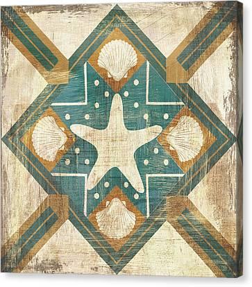 Starfish Canvas Print - Bohemian Sea Tiles Iv by Cleonique Hilsaca