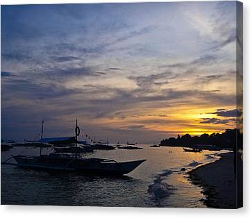 Bohol Sunset Canvas Print