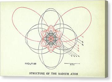 Quantum Theory Canvas Print - Bohr's Radium Atom by Aip Emilio Segre Visual Archives