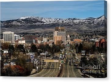 Haybale Canvas Print - Boise Idaho by Robert Bales