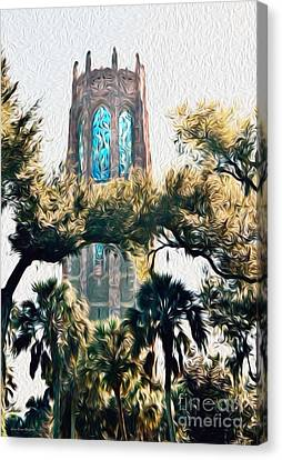 Bok Singing Canopy Tower Canvas Print by Ecinja Art Works