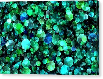 Bokeh Modern Decorative Design Viii Canvas Print by Georgiana Romanovna