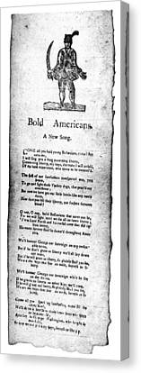 Bold Americans, C1770 Canvas Print by Granger