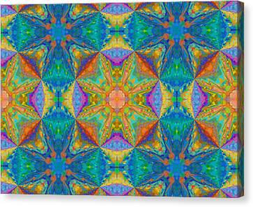 Bold Maze Abstract Canvas Print by Georgiana Romanovna