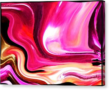 Bold Pink Abstract Canvas Print by Carol Groenen