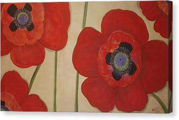 Bold Poppies Canvas Print by Cindy Micklos