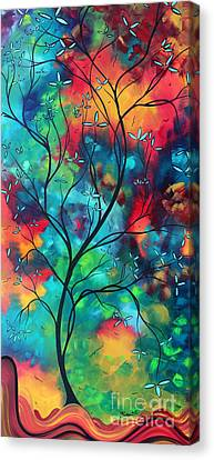 Bold Rich Colorful Landscape Painting Original Art Colored Inspiration By Madart Canvas Print by Megan Duncanson