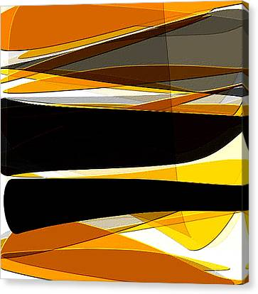 Bold- Yellow Orange Black And Gray Art Canvas Print by Lourry Legarde
