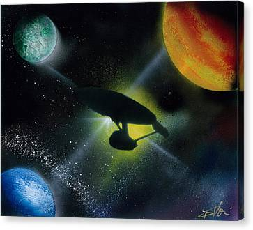 Boldly Go Canvas Print by Thomas DOrsi