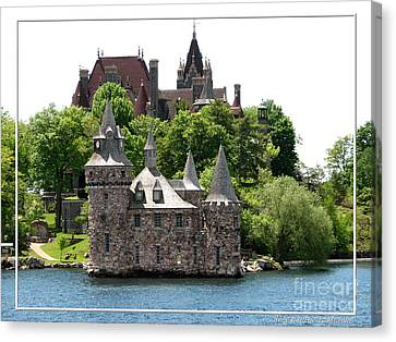 Boldt Castle And Powerhouse Canvas Print by Rose Santuci-Sofranko