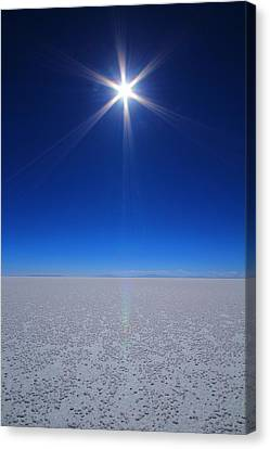 Bolivian Salt Canvas Print by FireFlux Studios