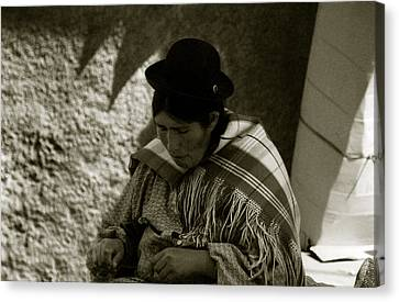 Bolivian Woman Canvas Print by Amarildo Correa