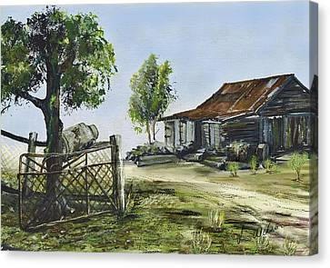 Bollier Shed And Gate Canvas Print by Lynne Wilson