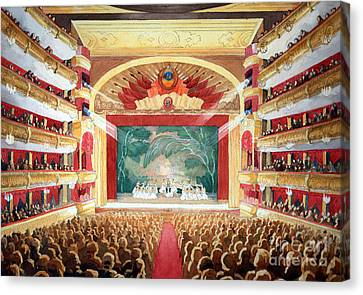 Canvas Print featuring the painting Bolshoi Ballet by Lora Serra