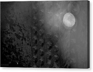 Bolts On The Trident In Black And White Canvas Print by Rob Hans