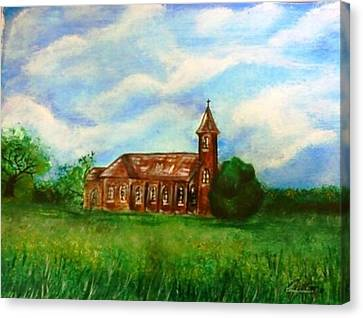 Bomarton Church Canvas Print by The GYPSY And DEBBIE